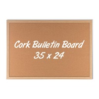 Printed Cork Bulletin Board - 24 x 35
